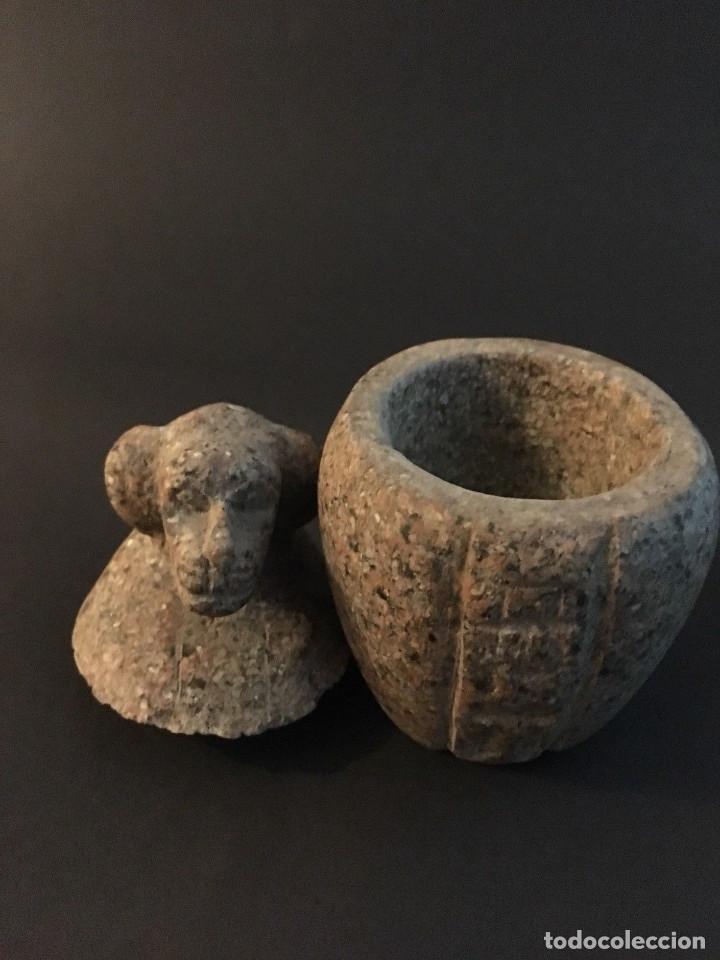 Antigüedades: Egipcio, Egipto, Vaso Canopo de la diosa Sejmet - Foto 4 - 109838267