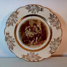 Antigüedades: PLATO DECORATIVO PORCELANA LIMOGES - CUADRO DE MURILLO 1650. Lote 109572711