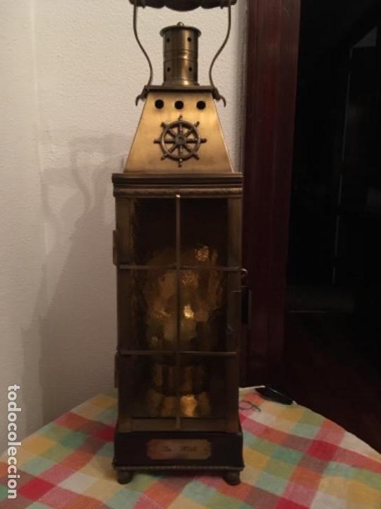 LÁMPARA FAROL DE ESTILO MARINERO (Antigüedades - Iluminación - Faroles Antiguos)