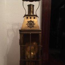 Antigüedades: LÁMPARA FAROL DE ESTILO MARINERO. Lote 109849531