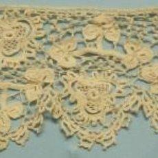 Antigüedades: ANTIGUO ENCAJE GUIPUR DE IRLANDA S. XIX. Lote 109851767