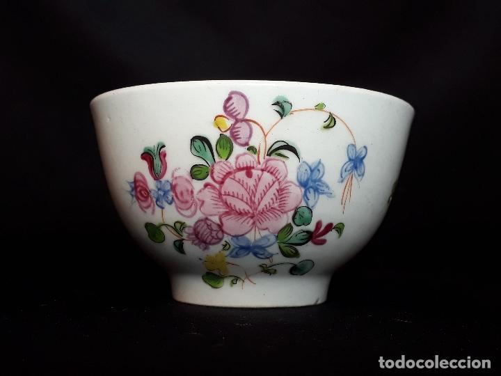 BOWL DE TÉ. PORCELANA. NEW HALL. SHELTON. INGLATERRA. FINALES SIGLO XVIII. (Antigüedades - Porcelanas y Cerámicas - Inglesa, Bristol y Otros)