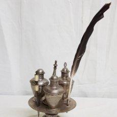 Antigüedades: ESCRIBANÍA ESPAÑOLA SIGLO XVII-XVIII DE PLATA. Lote 109866359