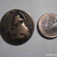 Antigüedades: MEDALLA EN BRONCE SANTO DOMINGO DE SILOS Y SANTA BARBARA - SIGLO XVII - MIRA MAS EN VENTA. Lote 109998603