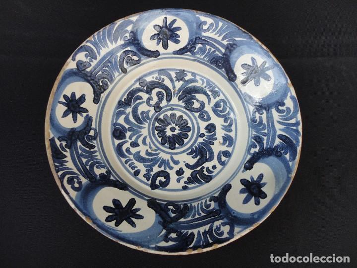 CERÁMICA ARAGONESA: PLATO DE TERUEL SIGLO XVIII (Antigüedades - Porcelanas y Cerámicas - Teruel)
