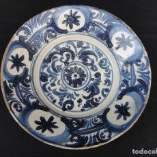 Antigüedades: CERÁMICA ARAGONESA: PLATO DE TERUEL SIGLO XVIII. Lote 144373457