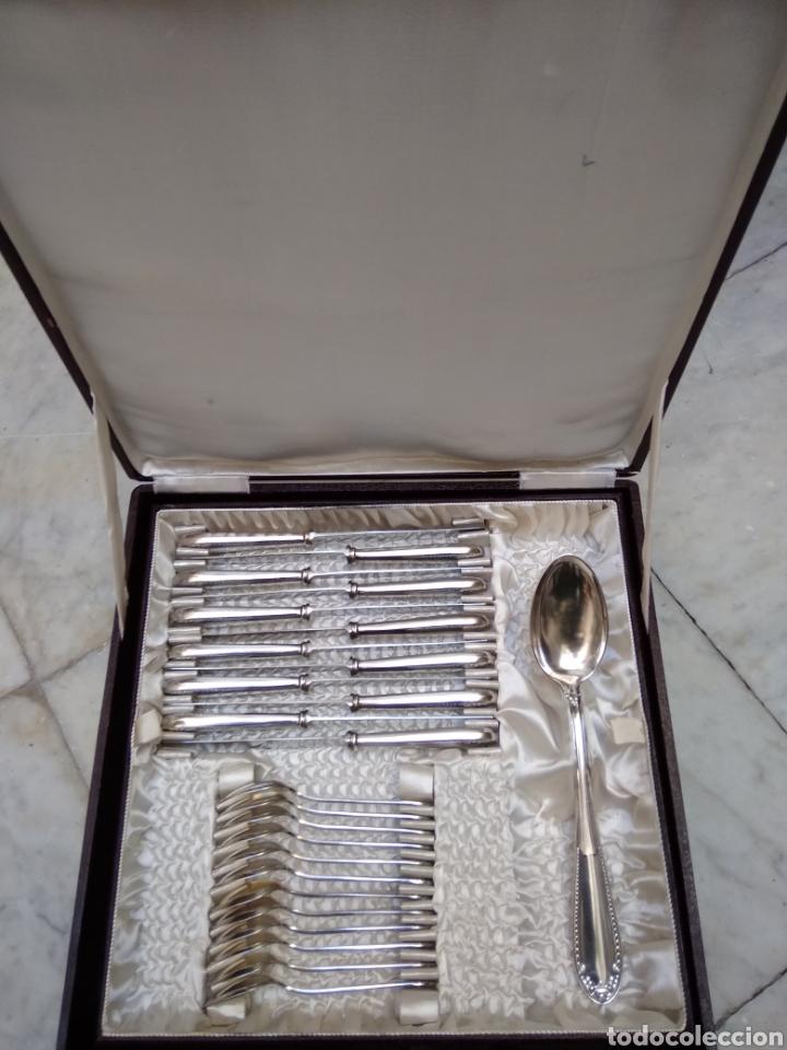 Antigüedades: Cuberteria de 12 servicios con baño de plata - Foto 6 - 110027584