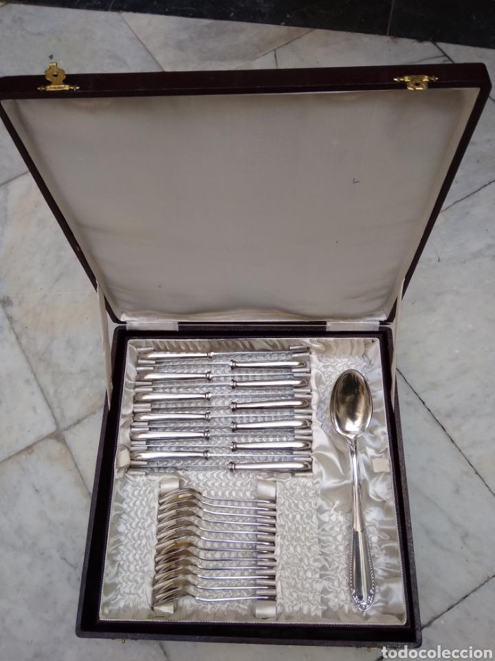 Antigüedades: Cuberteria de 12 servicios con baño de plata - Foto 7 - 110027584