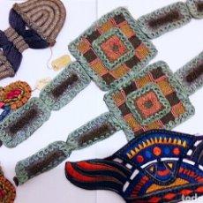 Antigüedades: COLECCIÓN DE ANTIGUOS APLIQUES, BORDADOS ART DECO GRAN TAMAÑO. STOCK SIN USO. Lote 110038499