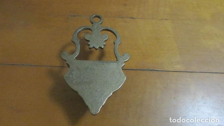 Antigüedades: Benditera de bronce - Foto 3 - 110058783