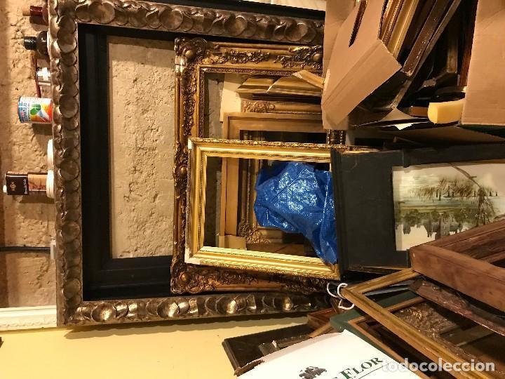 Antigüedades: LOTE DE MARCOS ANTIGUOS Y TALLADOS A MANO - Foto 4 - 110062779