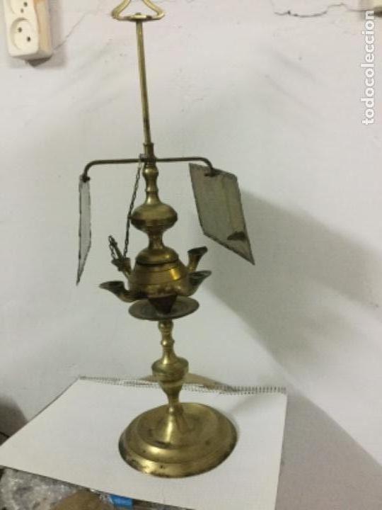 CANDIL ANTIGUO PRINCIPIOS S.XX (Antigüedades - Iluminación - Candelabros Antiguos)