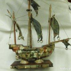 Antigüedades: ANTIGUO BARCO DE NACAR. Lote 110120839