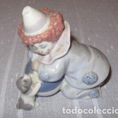 Antiquitäten - figura porcelana PAYASO PIERROT CON PERRITO LLADRO - 110135019