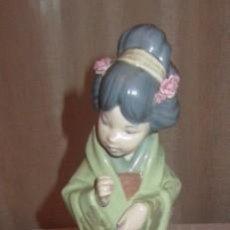 Antiques - figura porcelana LLADRO: JAPONESA CON SOMBRILLA PIEZA DESCATALOGADA 1996 - 110135511