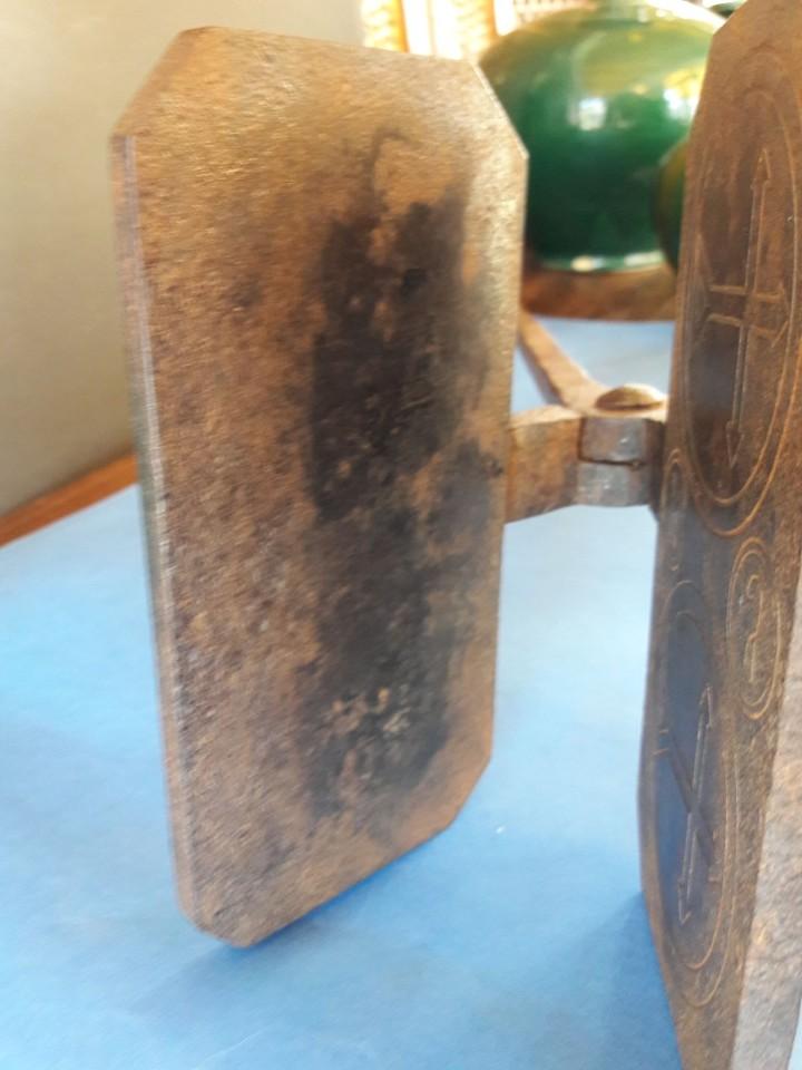 Antigüedades: Hostiario, tenazas para hacer hostias consagradas - Foto 3 - 110148687