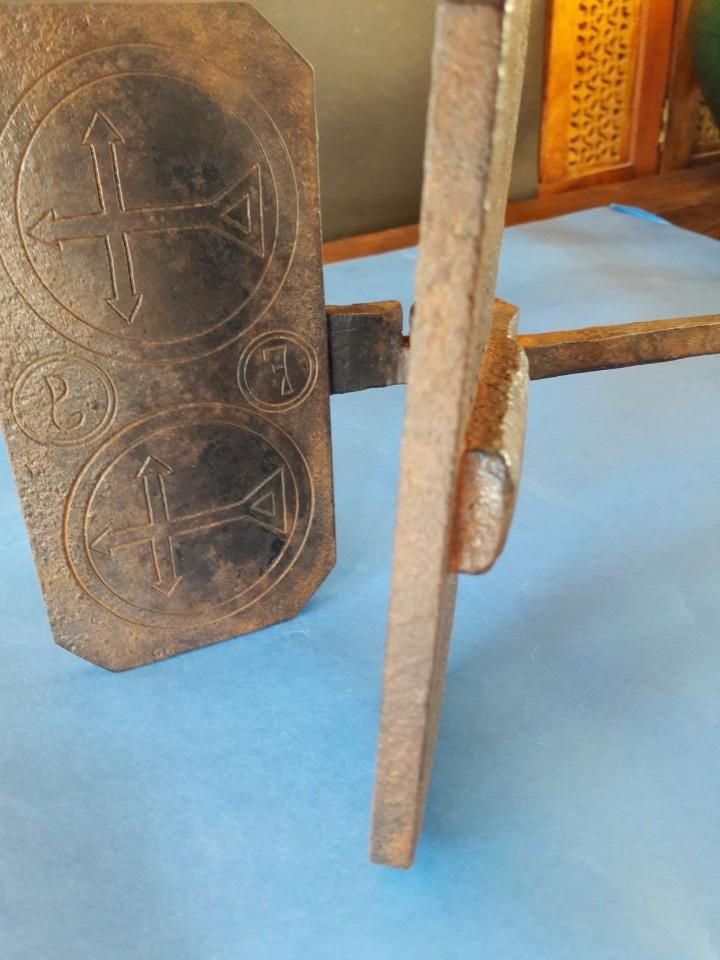 Antigüedades: Hostiario, tenazas para hacer hostias consagradas - Foto 7 - 110148687