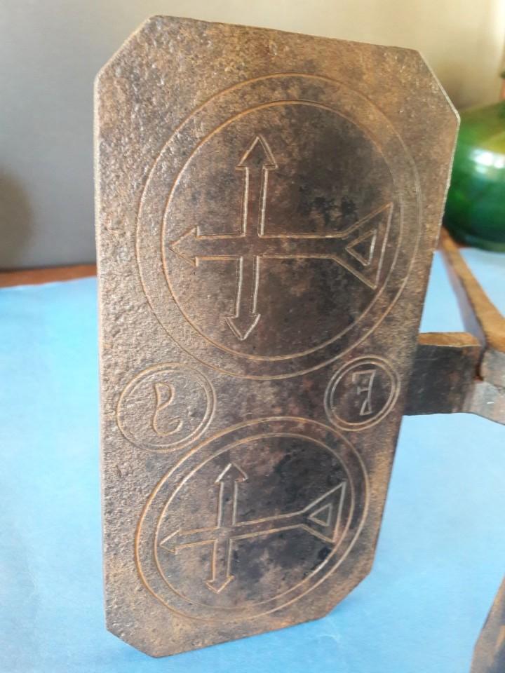 Antigüedades: Hostiario, tenazas para hacer hostias consagradas - Foto 9 - 110148687