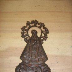 Antigüedades: IMAGEN EN HIERRO COLADO DE LA VIRGEN DEL CARMEN. Lote 110148699