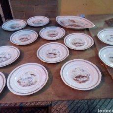 Antigüedades: ANTIGUO SERVICIO DE PESCADO DE LIMOGES. Lote 110151520