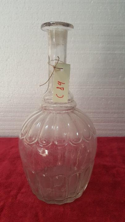 BOTELLA ANTIGUA EN CRISTAL CARTAGENA 5000 - 019 (Antigüedades - Cristal y Vidrio - Santa Lucía de Cartagena)