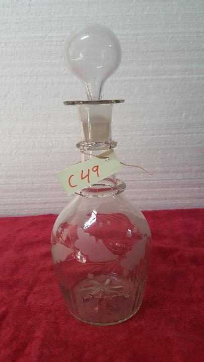 BOTELLA ANTIGUA EN CRISTAL CARTAGENA 5000 - 049 (Antigüedades - Cristal y Vidrio - Santa Lucía de Cartagena)