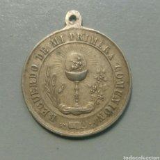 Antigüedades: MEDALLA ANTIGUA RECUERDO DE COMUNION. Lote 110157424