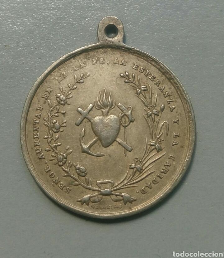 Antigüedades: Medalla antigua recuerdo de comunion - Foto 2 - 110157424