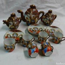 Antigüedades: JUEGO DE CAFÉ, PORCELANA MADE IN JAPAN. Lote 110179247