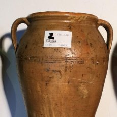 Antigüedades: ORZA DE BARRO CON ASAS. Lote 110186979