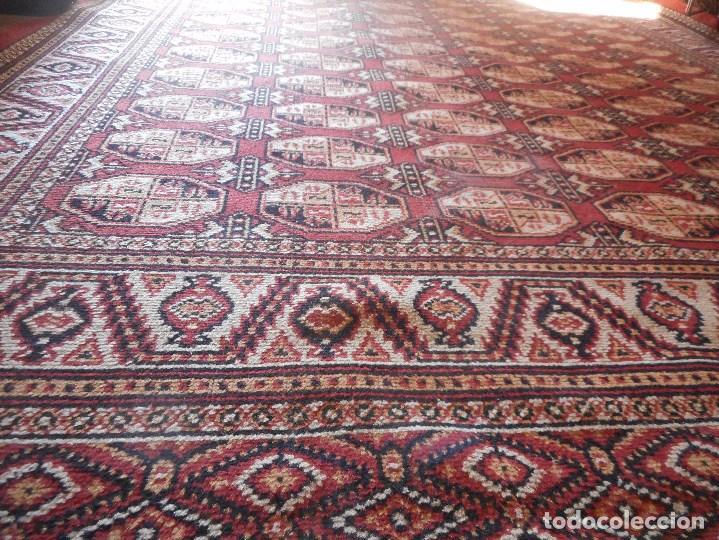 Antigüedades: gran alfombra años 20 30 mide 247 por 190 cm recogida provincia barcelona - Foto 3 - 110191303
