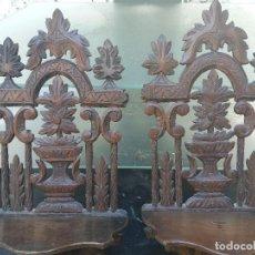 Antigüedades: PAREJA MENSULAS CALADAS. Lote 110209739