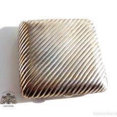 Antigüedades: PITILLERA DE PLATA CON BONITA FORMA - PERFECTO ESTADO 8 X 8 CM. Lote 130639363