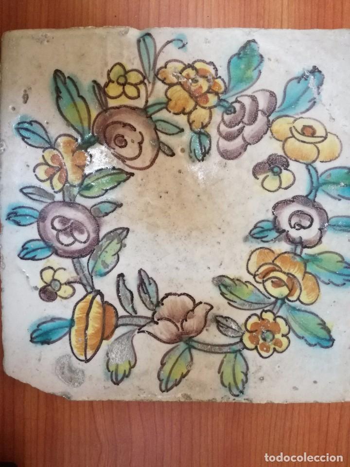 ANTIGUO AZULEJO VALENCIANO. S. XVIII (Antigüedades - Porcelanas y Cerámicas - Manises)