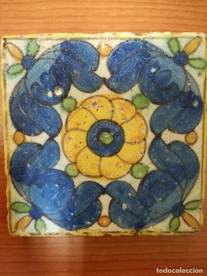 ANTIGUO AZULEJO VALENCIANO (Antigüedades - Porcelanas y Cerámicas - Manises)
