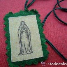 Antigüedades: ESCAPULARIO DE TELA ANTIGUO. Lote 110240943