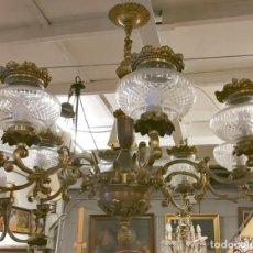 Antigüedades: LAMPARA 8 BRAZOS.. Lote 110242603