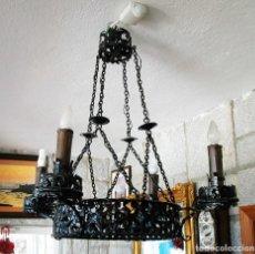 Antigüedades: LAMPARA DE HIERRO FORJADO S.XVIII. Lote 110245519