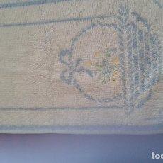 Antigüedades: JUEGO DE 3 TOALLAS BORDADAS. Lote 110250423