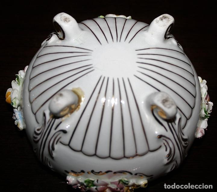 Antigüedades: AZUCARERO DE PORCELANA CON DECORACIONES FLORALES - MESTRE - Foto 4 - 110253427