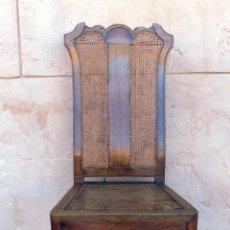 Antiquités: SILLA. REINA ANA, REJILLA. SIGLO XVIII. ROBLE. PERFECTO ESTADO.. Lote 110299223
