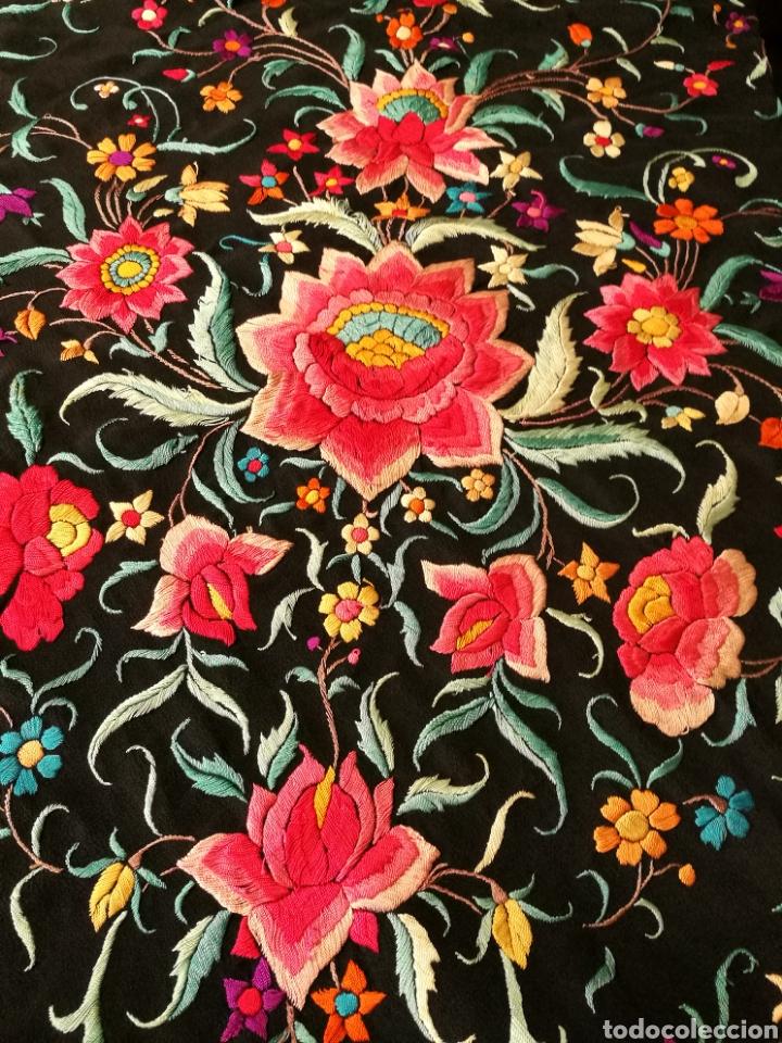 Antigüedades: Maravilloso mantón antiguo - Foto 3 - 110301496