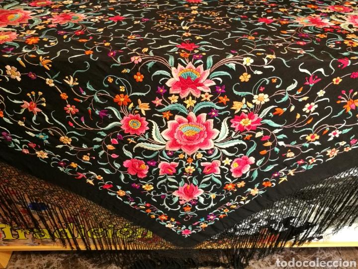 Antigüedades: Maravilloso mantón antiguo - Foto 5 - 110301496