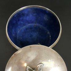 Antigüedades: JOYERO DE PLATA MACIZA. PUNZONES EN LA BASE. CIRCA 1950. . Lote 110337963