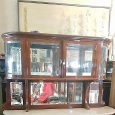 Antigüedades: APARADOR INGLÉS EN NOGAL EN PERFECTO ESTADO. . Lote 110362407