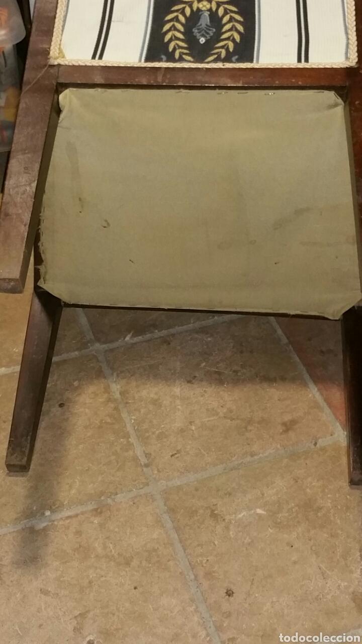 Antigüedades: Sillón estilo y época Carlos cuarto realizado en caoba y limoncillo - Foto 6 - 110372576