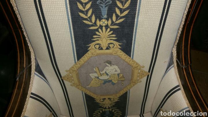 Antigüedades: Sillón estilo y época Carlos cuarto realizado en caoba y limoncillo - Foto 7 - 110372576