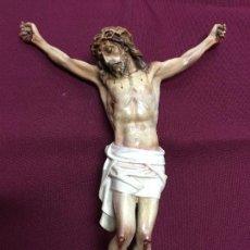 Antigüedades: ANTIGUO CRISTO CRUCIFICADO DE OLOT - MEDIDA 22,5X31 CM - RELIGIOSO - RELIGIOSA. Lote 110395507