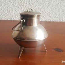 Antigüedades: POTE REALIZADO EN PLATA, FIRMADO. FIGURA DE PLATA.. Lote 110406075