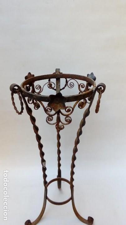 Antigüedades: portamacetas forja - Foto 2 - 208416576